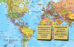 Período excecional de candidaturas de Intercâmbio para o Brasil para alunos de Medicina Dentária